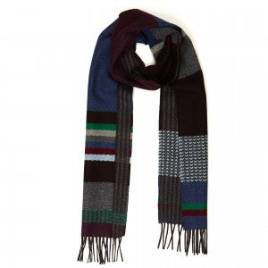 Wallace & Sewell Scarf - Stripe Dark