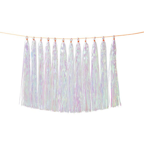 Iridescent Tassel Garland - coming soon!
