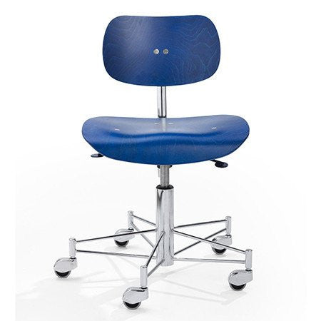 Please Wait To Be Seated: Egon Eiermann Office Chair - Blue