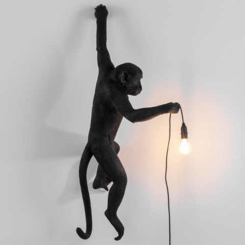 Seletti Monkey Lamp Black Wall