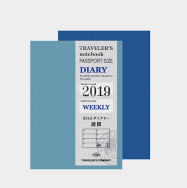 Traveler's Company Traveler's Notebook Passport Size 2019 Weekly Diary