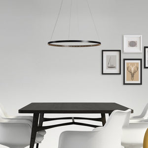 Le Deun Circle 60 Pendant - Black