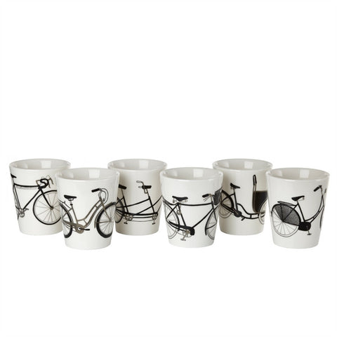 Kopper med cykelmotiver / Bicycle cups