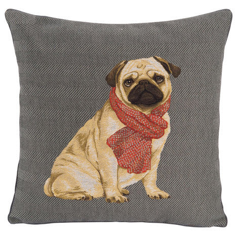 Pude med mops / Pug Pillow