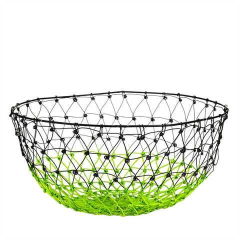 Gradient Colour Metal Basket - green