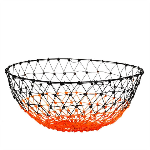 Gradient Colour Metal Basket - orange