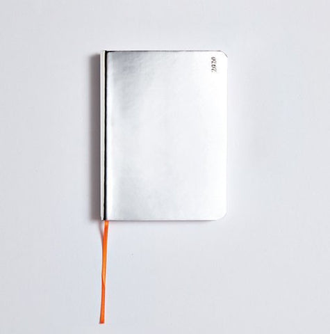 Nuuna Weekly Diary 2020 Shiny Silver Notebook S
