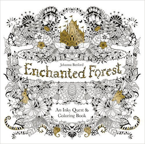 Enchanted Forest - colouring book by Johanna Basford