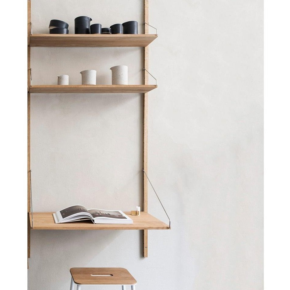 FRAMA Library H185 Desk Section Light Oak