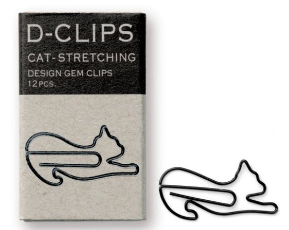 Midori Japan D-clips - Cat - Stretching