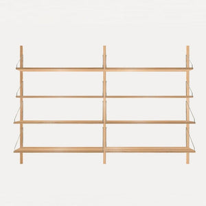 FRAMA SHELF Library H115 Double Section Light Oak