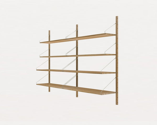 FRAMA SHELF Library H115 Double Section Natural Oak