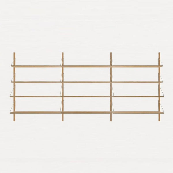 FRAMA SHELF Library H115 Triple Section Natural Oak