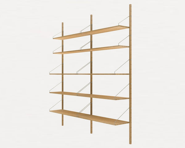 FRAMA SHELF Library H185 Double Section Natural Oak