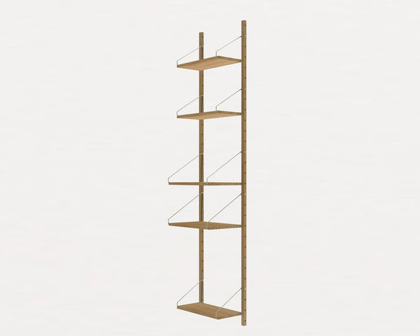 FRAMA SHELF Library H185 / W40 Section Natural Oak