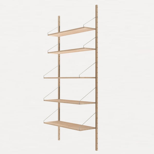 FRAMA SHELF Library H185 Single Section White Oak