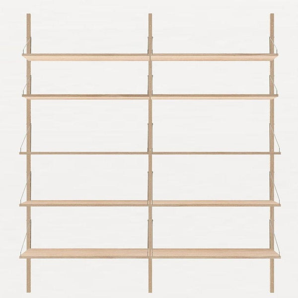 FRAMA SHELF Library H185 Double Section White Oak