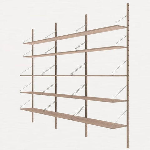 FRAMA SHELF Library H185 Triple Section White Oak
