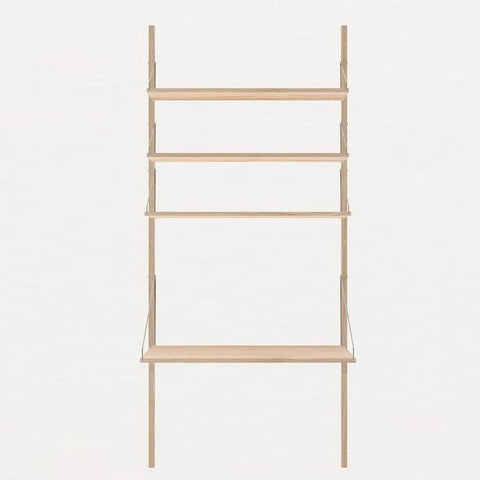 FRAMA Library H185 Desk Section White Oak