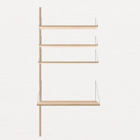 FRAMA Library H185 Desk Add-on Section White Oak