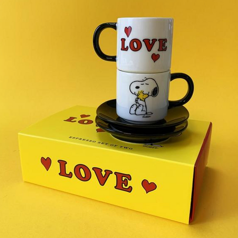 Snoopy Espresso Cup Set - Love
