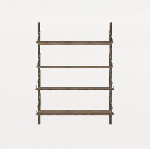 FRAMA SHELF Library H115 Single Section Dark Oak