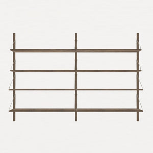 FRAMA SHELF Library H115 Double Section Dark Oak