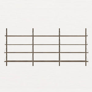 FRAMA SHELF Library H115 Triple Section Dark Oak