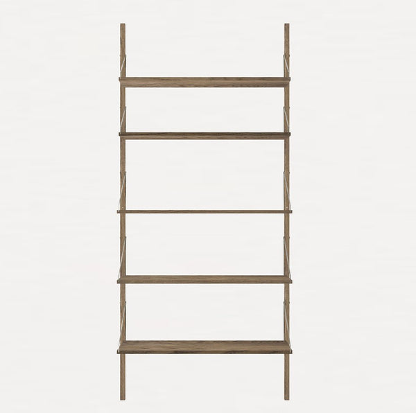 FRAMA SHELF Library H185 Single Section Dark Oak