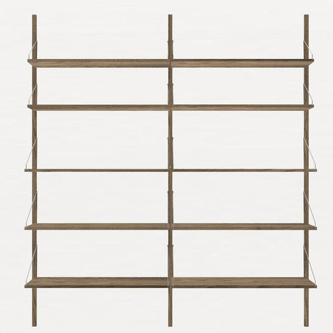 FRAMA SHELF Library H185 Double Section Dark Oak