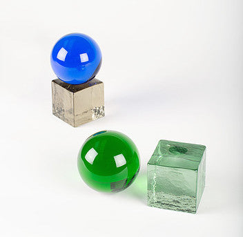 Swedish Ninja Glass Sculpture - Green / Green
