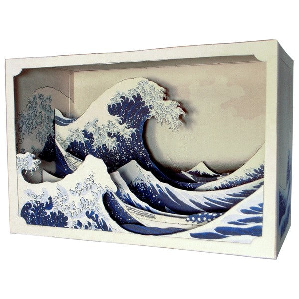 Tatebanko - The Great Wave by Hokusai