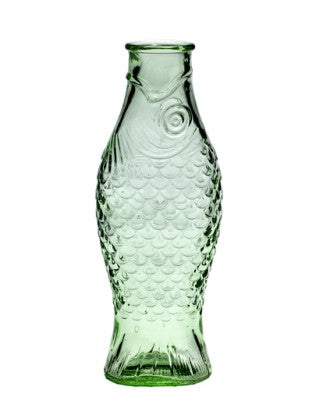 Transparent Green Fish Bottle 1 L