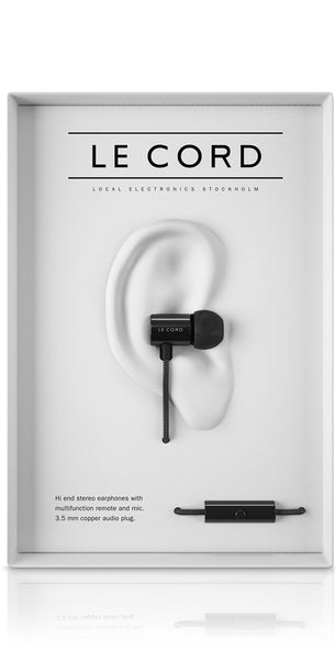 Le Cord Earphones - All Black