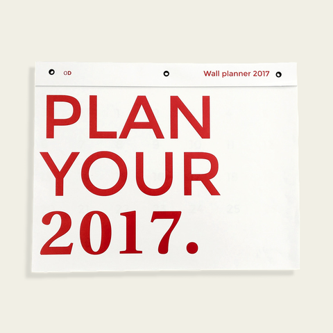 Octagon Design Wall Planner 2017 A3 Size