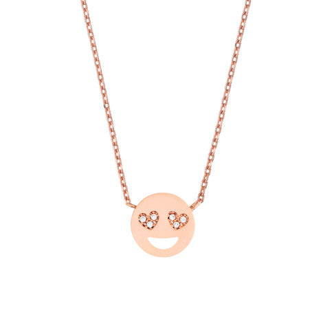 Estella Bartlett - Heart Eye Emoji Necklace