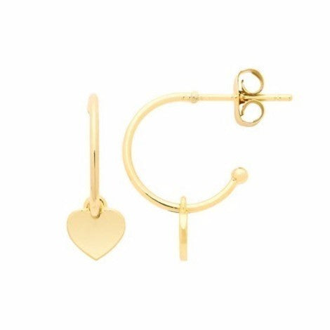 Estella Bartlett - Heart Hoop Earrings