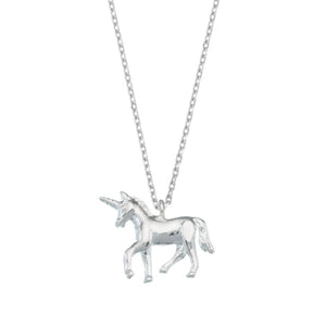 Estella Bartlett - Unicorn Necklace - Silver Plated