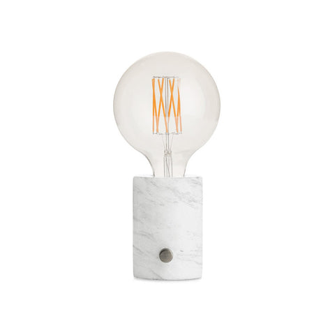 MARBLE bordlampe med dæmper / table lamp with dimmer - White