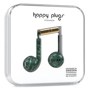 Happy Plugs Earbud Plus Headphones - Green Marble