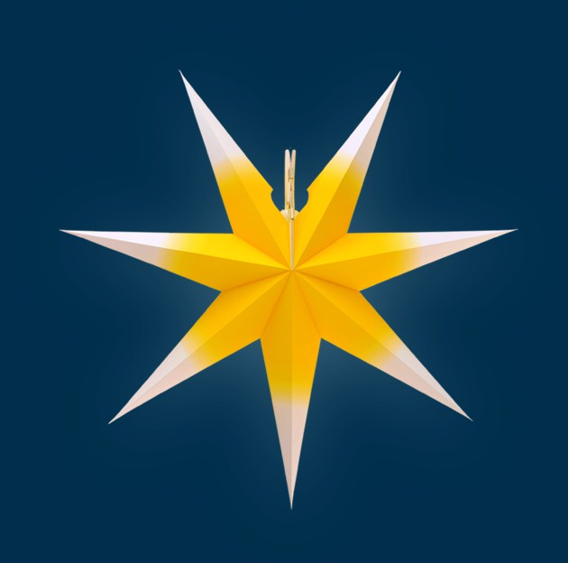Handmade Window Star - Yellow/white