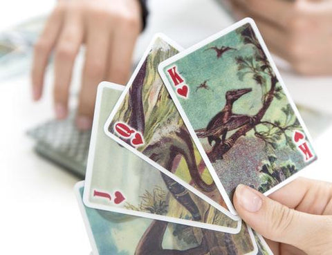 Kikkerland Lenticular Dinosaur Playing Cards