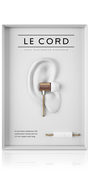 Le Cord Earphones - White/gold