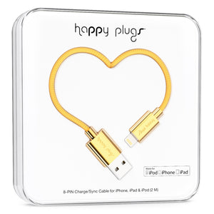 Happy Plugs Charge/Sync Cable Gold
