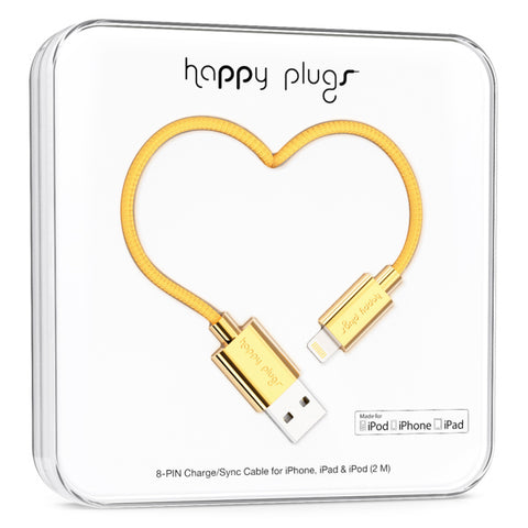 Happy Plugs Charge/Sync Cable - Gold