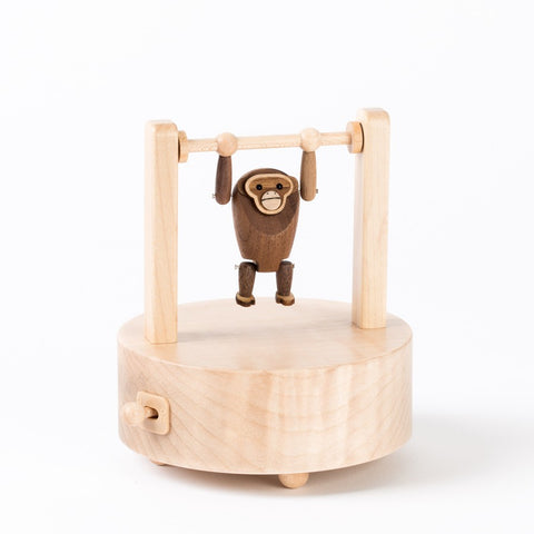 Hanging Orangutang Wooden Music Box