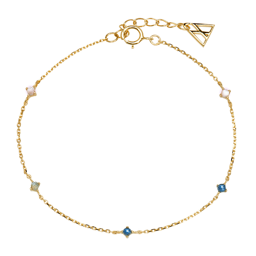 PD Paola Navy Gold Bracelet
