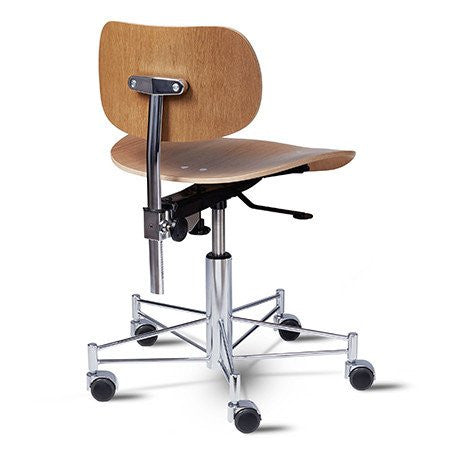Please Wait To Be Seated: Egon Eiermann Office Chair - Teak