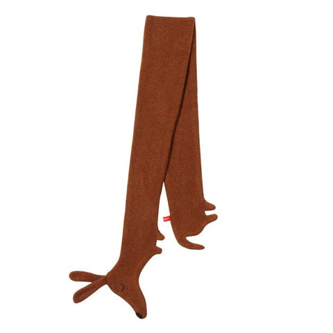 Donna Wilson Sausage Dog Scarf - Brown