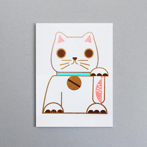 Scout Edition - Lucky Cat Mini Card Risoprint